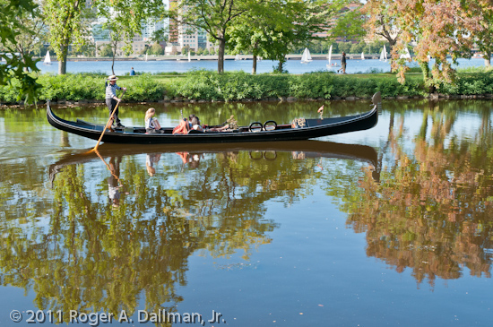 Gondola ride, just off the Charles River, in Boston