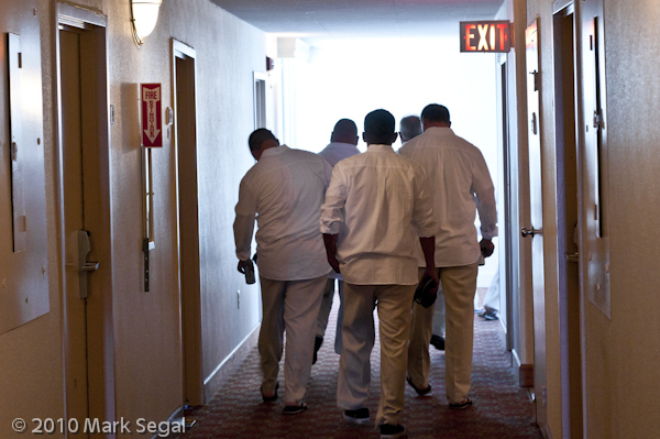 Groomsmen heading out for the wedding