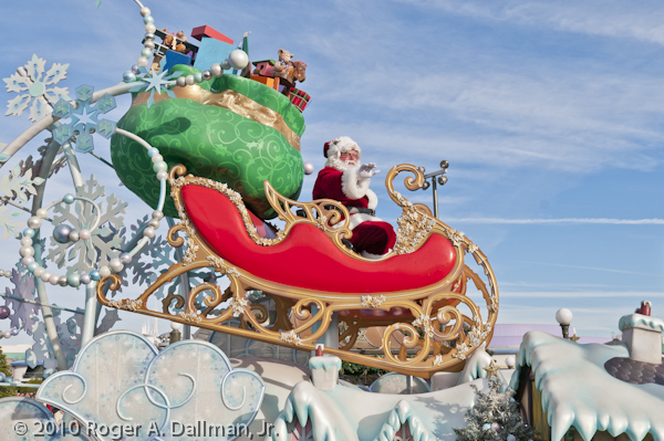 Santa in a Christmas parade.
