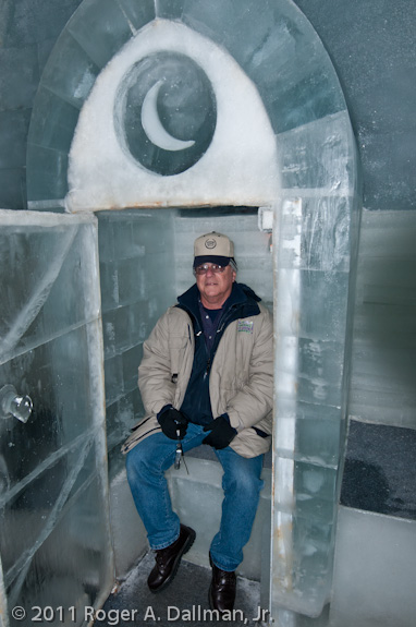 Ice outhouse in Chena Springs, Alaska