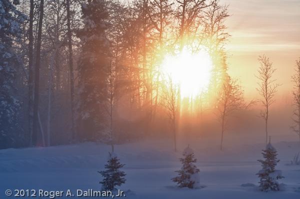 Ice fog in Fairbanks, Alaska