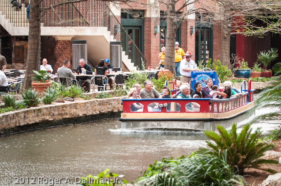 Party barge in San Antonio, Texas