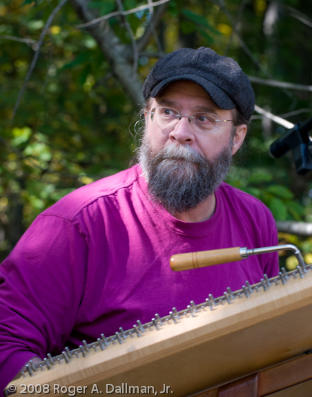 Musician with hammered dulcimer