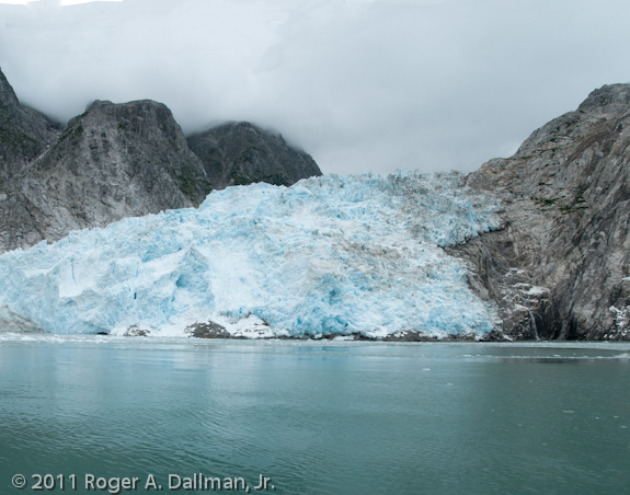 Glacier in Alaska. Rule of thirds.