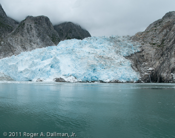 Glacier in Alaska with a center line