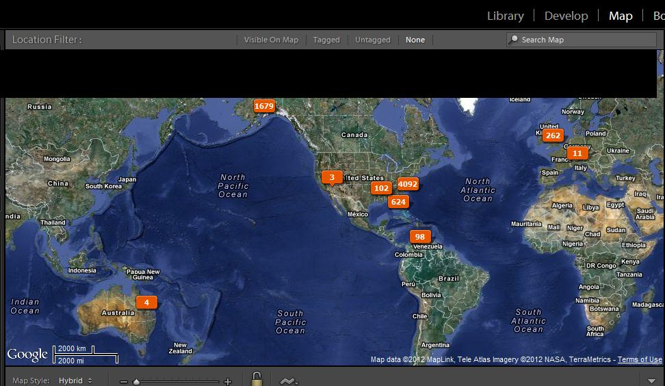 Lightroom 4 Map Module