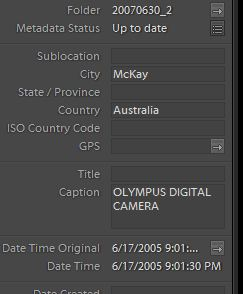Lightroom 4 metadata
