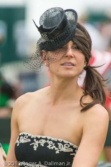 A fancy hat at the Virginia Gold Cup Race