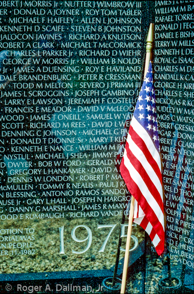 The Vietnam Memorial in Washington, D.C.