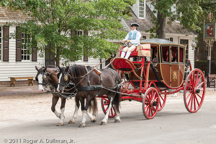 Carriage ride through Williamsburg, VA