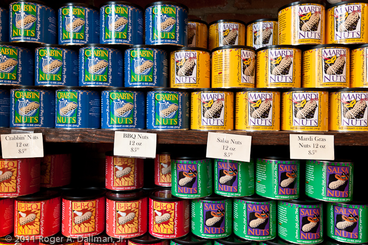 colorful peanut cans