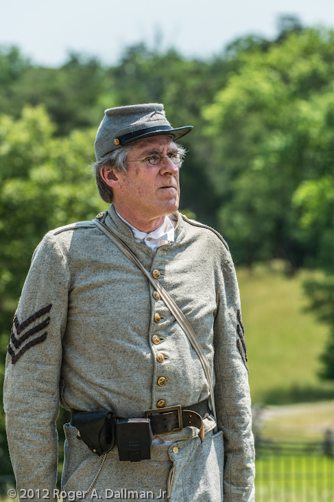 Civil War re-enactor at Manassas Battlefield, Va