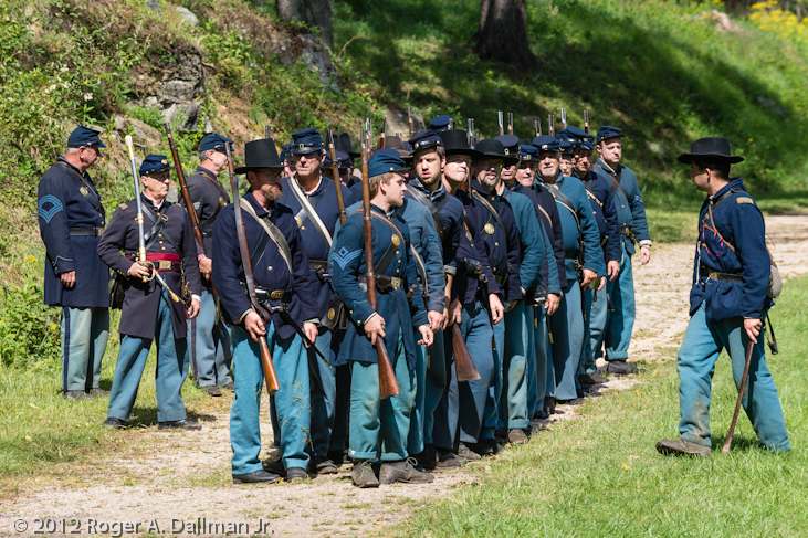 Union formation at Antietam