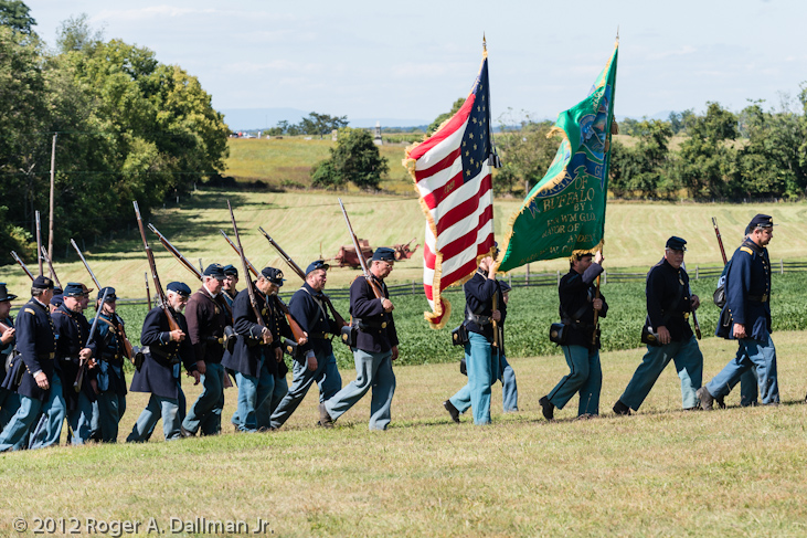 Union parade at Antietam