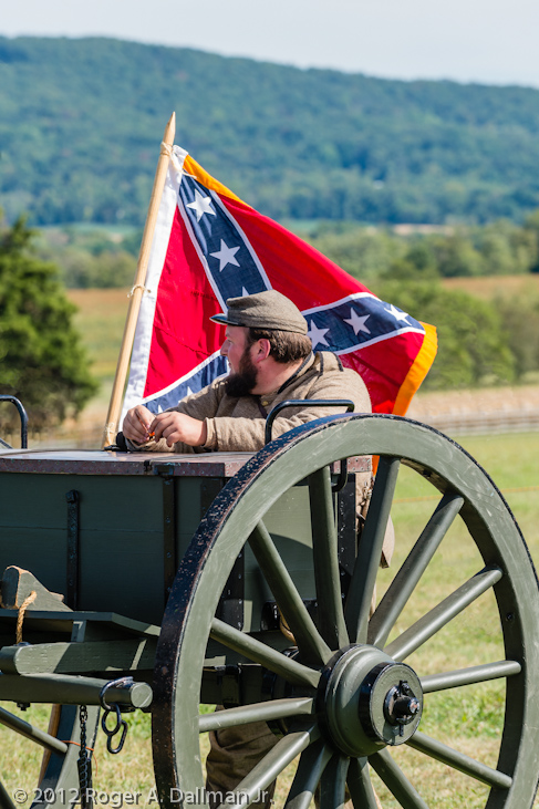 Confederate caisson at Antietam