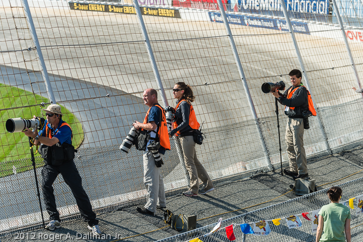 Pro photographers at Dover Downs race