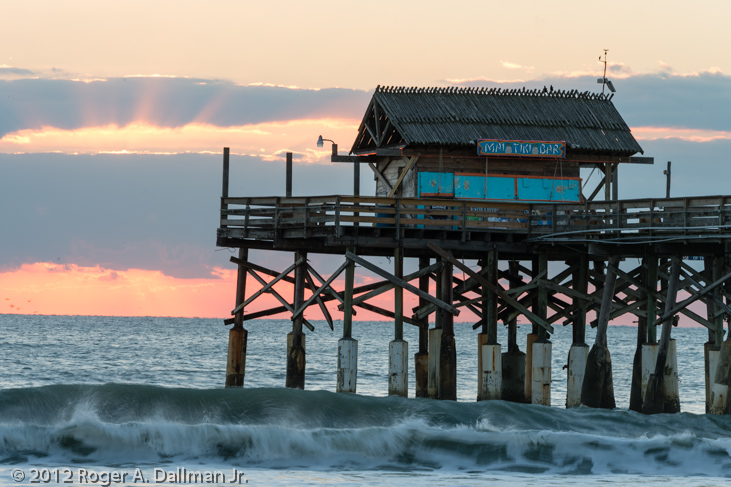 photo, florida, cocoa beach, sunrise, pier