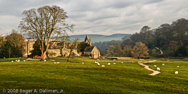 panorama from Bolton Abbey