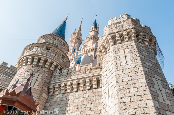 Cinderella castle in DisneyWorld, Florida