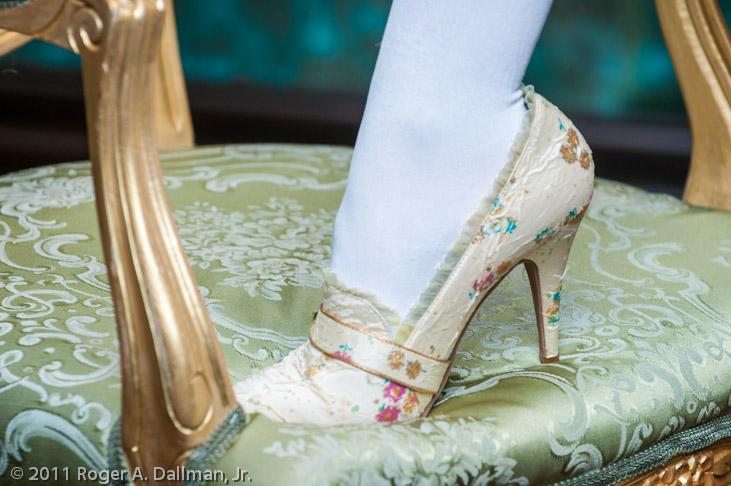 high heel on a chair photo