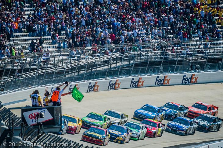 Green flag at Dover NASCAR race 2012