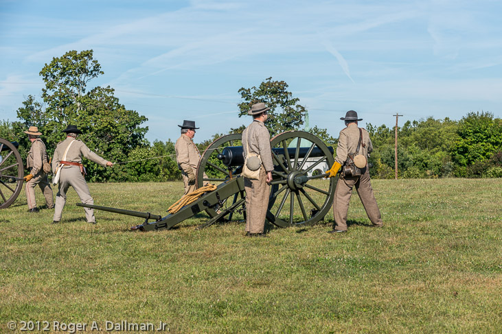 canons, artillery battery, Antietam, Maryland