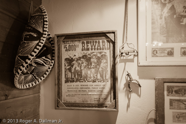 wanted poster and sombrero in Tombstone, Arizona