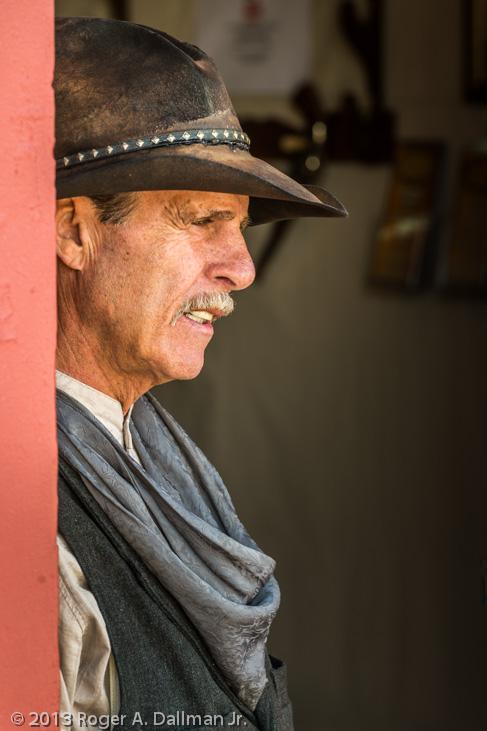 cowboy in a saloon doorway, Tombstone, Arizona