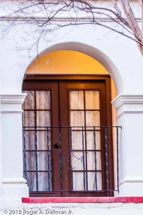 hotel doors at the Riverwalk, in San Antonio, Texas