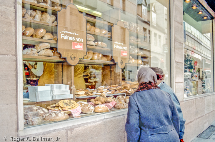 two ladies in Bavaria, Germany, at a bakery