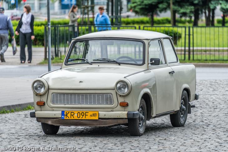 A Trabant in Nowa Huta, Krakow, Poland