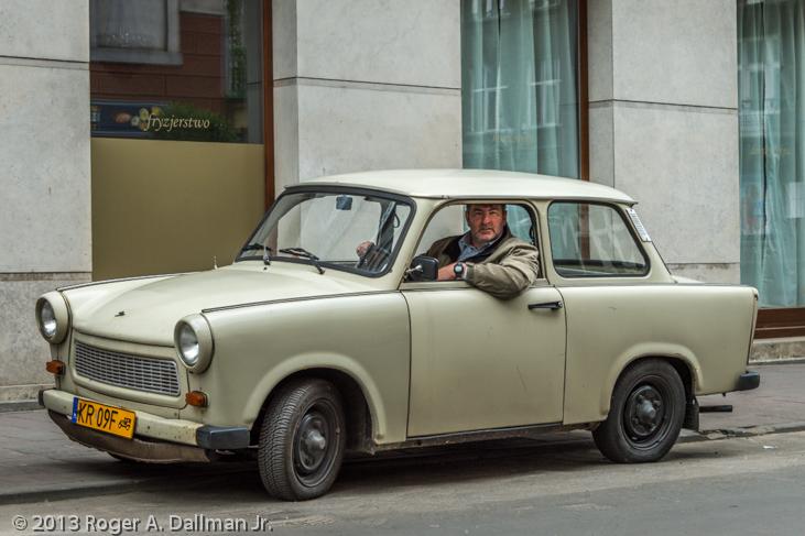 NA Trabant in Nowa Huta, Krakow, Poland