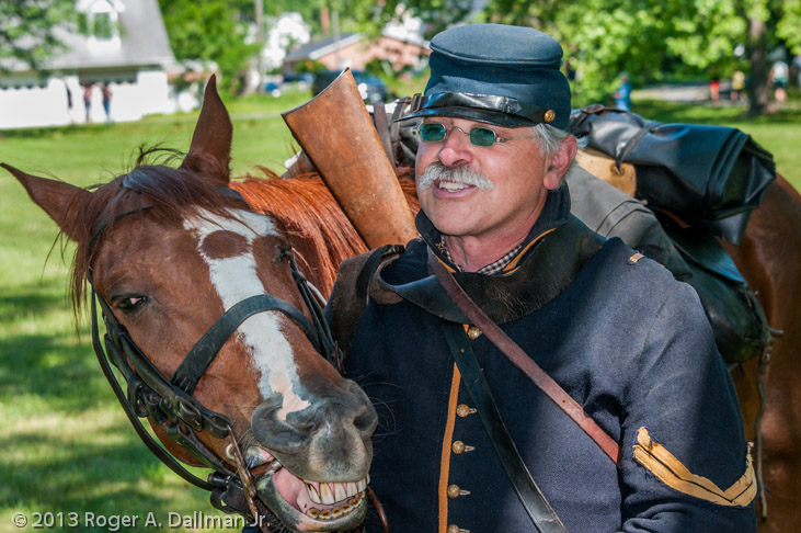 Civil War re-enactor, cavalry, humor