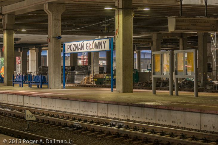 Main train depot in Poznan, Poland