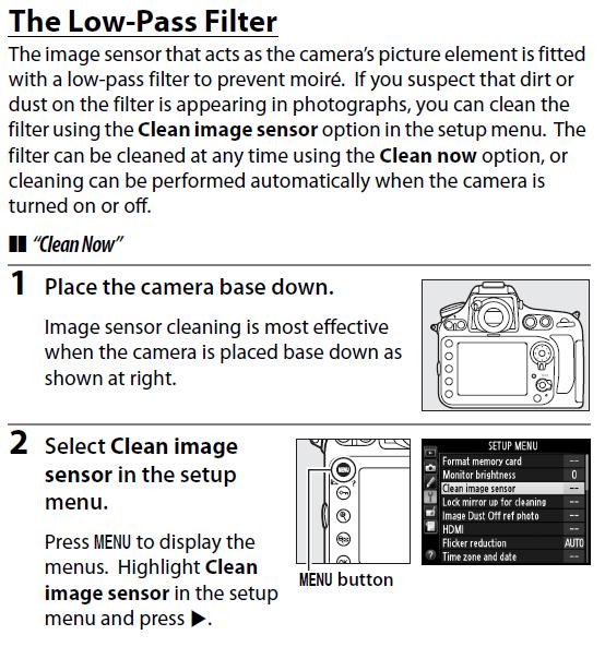 Clean sensor
