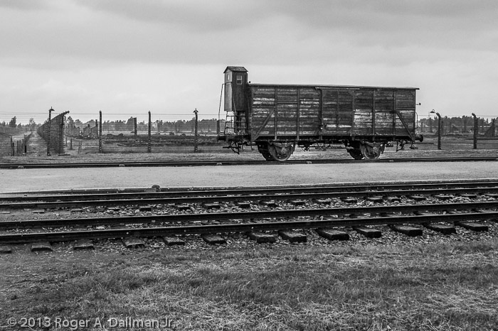 Prisoners were herded into cattle cars for the trip to Auschwitz; many did not survive this journey.