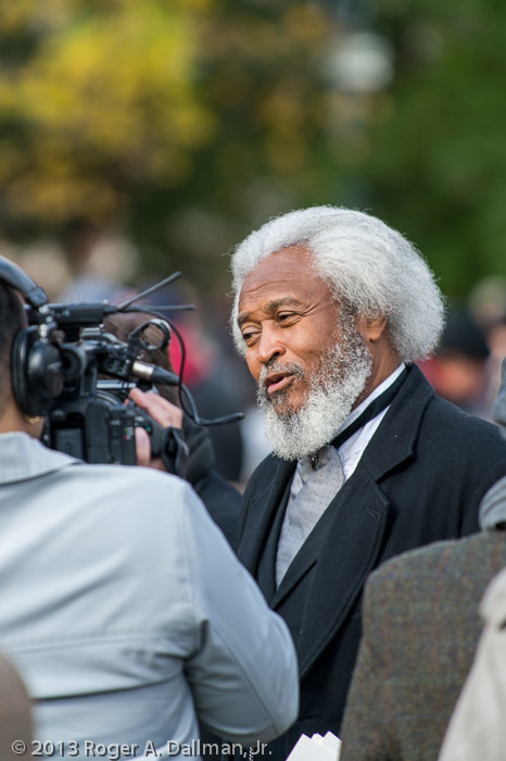 Michael E. Crutcher Sr. portraying Frederick Douglass at the 150th anniversary of the Gettysburg Address.