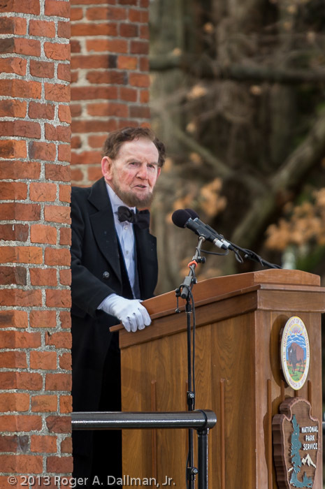 James Getty portraying Abraham Lincoln at the 150th anniversary of the Gettysburg Address.