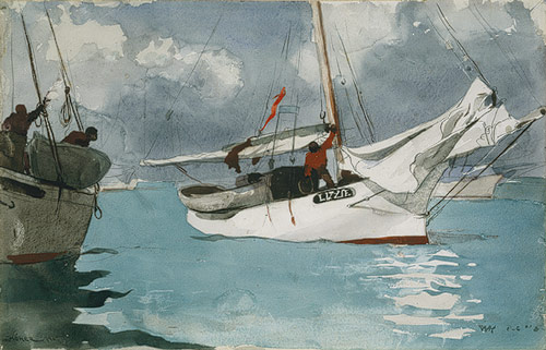 Fishing Boat by Winslow Homer
