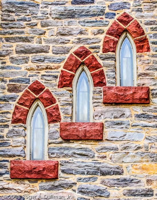 Church windows, in Harpers Ferry.