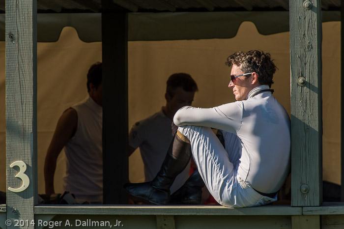 Taking a break before his race