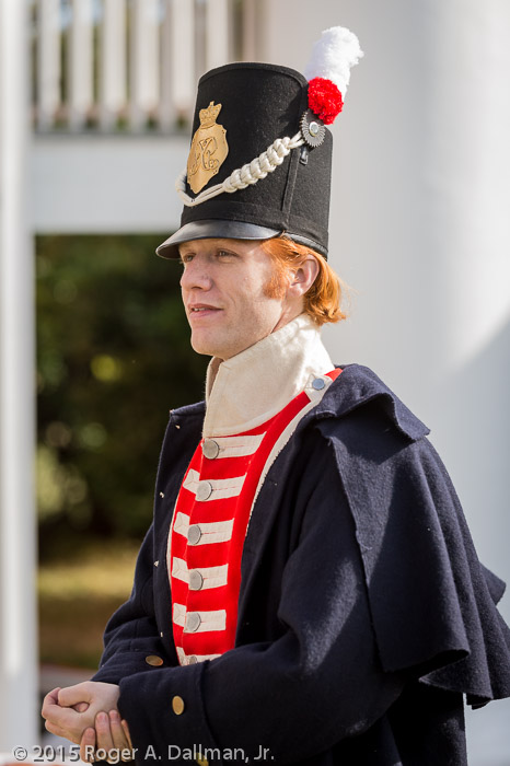 British sergeant at the Chalmette plantation house