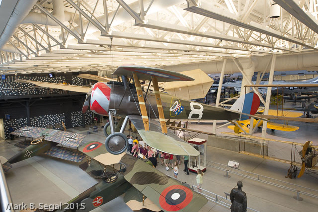 "Nieuport from WW1 flown by the American ""Hat in the Ring"" squadron"