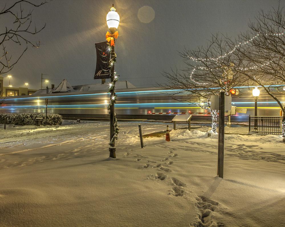 Train station long exposure. Photo by Peter Guyan