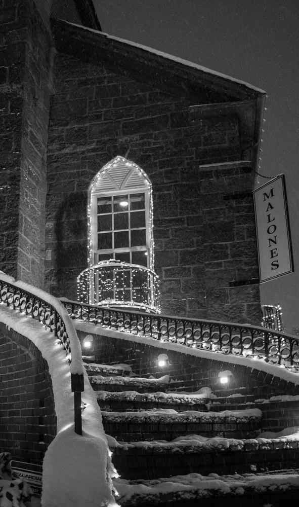 Monochrome staircase. Photo by Robyn Wiencko