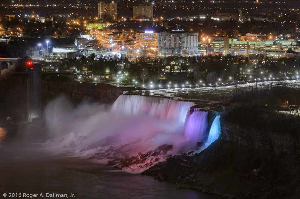 Niagara Falls, a three-second exposure