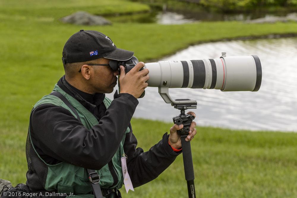 Ball head and long lens
