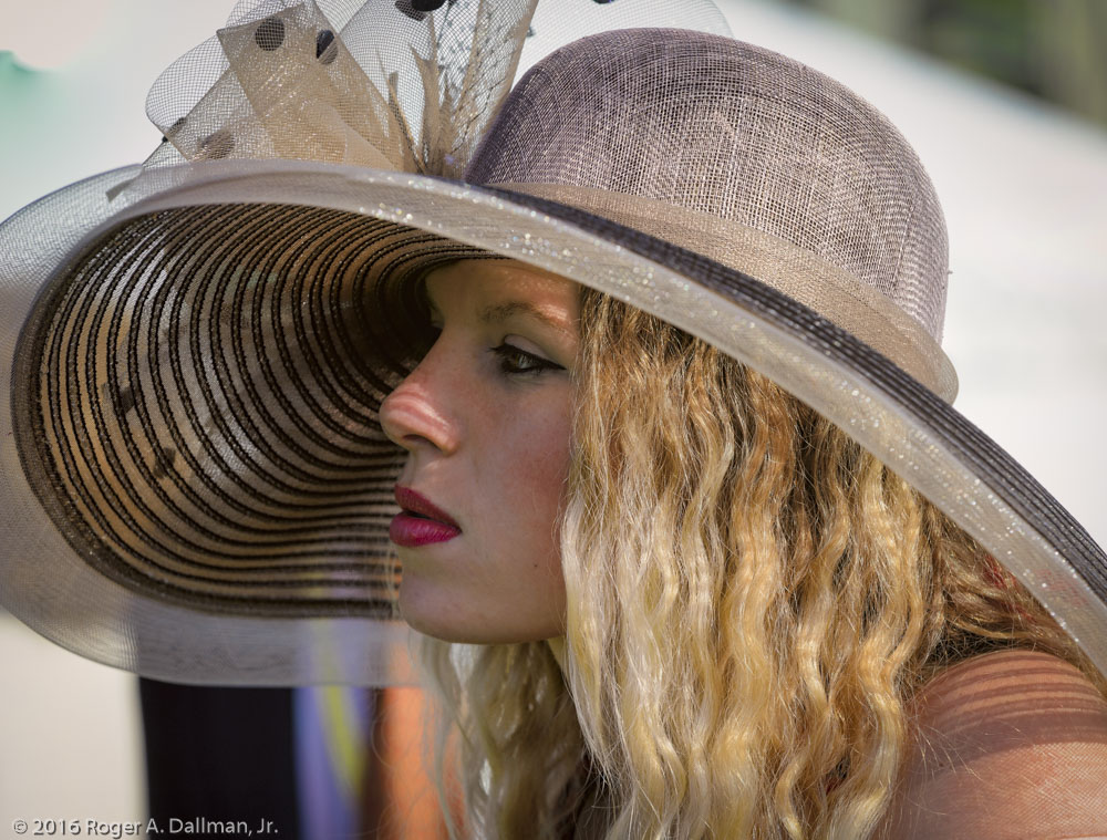 One of the hat contestants