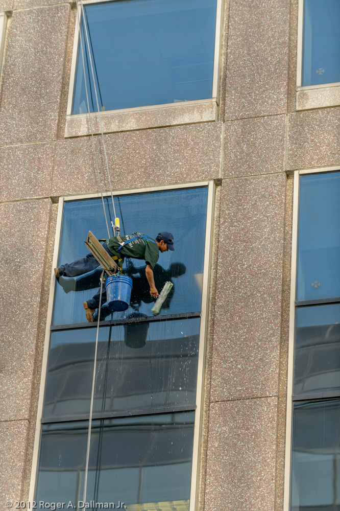 Slanted window washer