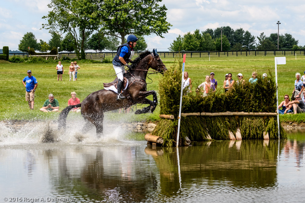 Boyd Martin, USA, in the pond